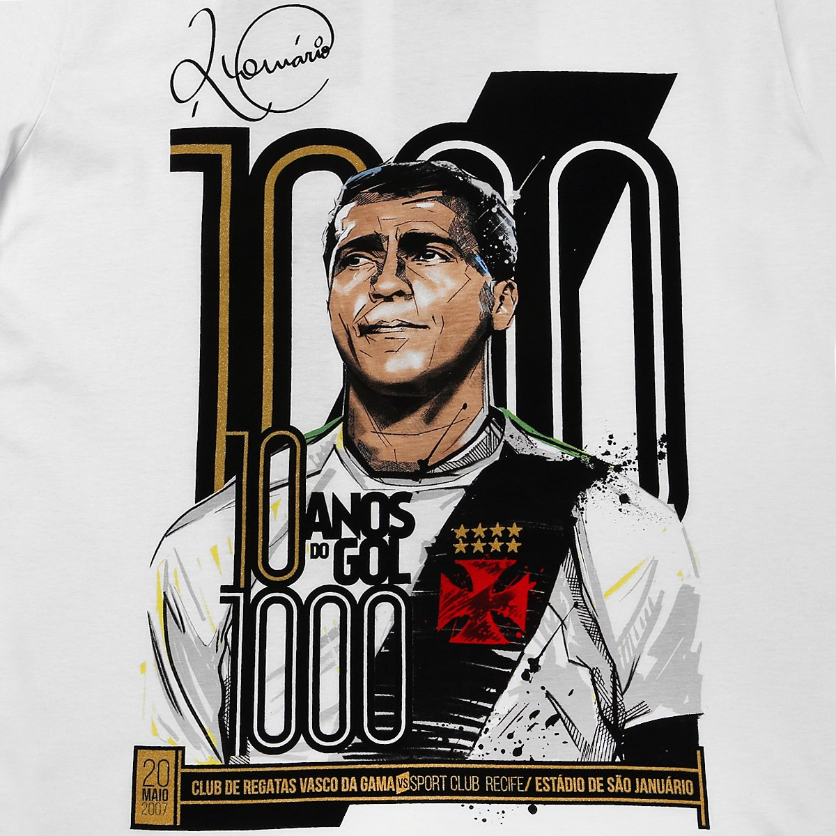 Camisa Vasco Romário 10 Anos - 1000 Gols Masculina | Shop Vasco