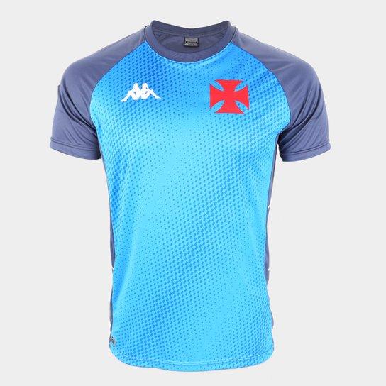 Camisa Vasco Treino 20/21 Kappa Masculina - Azul+Cinza