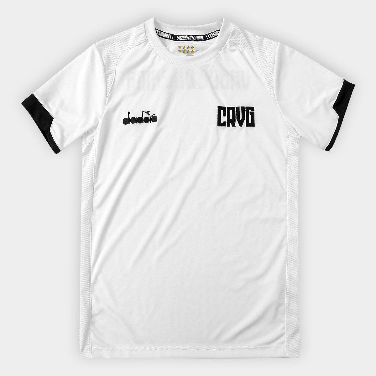 b435d1cb0c Camisa Vasco Treino Infantil 19 20 Diadora - Branco