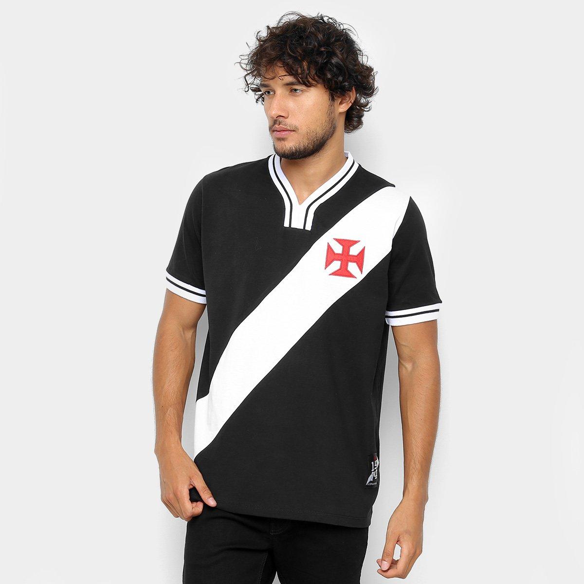 Camiseta do Vasco 74 Masculina - Preto e Branco - Compre Agora ... 16daaec51b94a