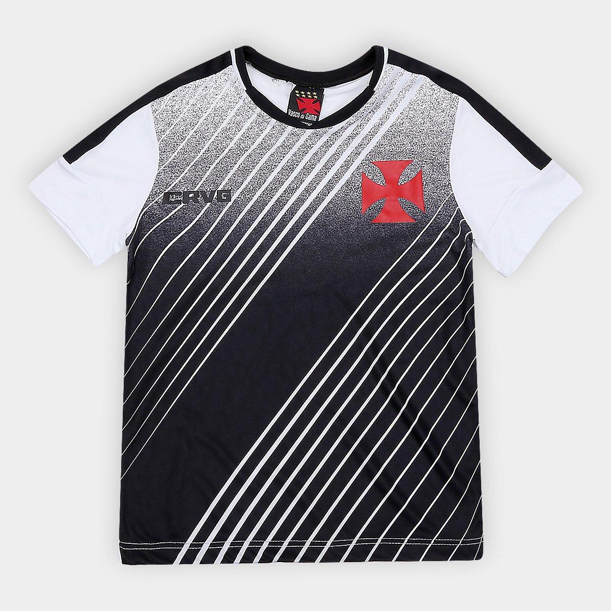 Camiseta do Vasco Infantil Strike - Branco e Preto - Compre Agora ... 817b1cc0cb6ca