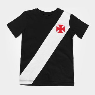 Camiseta Infantil Vasco da Gama Recorte