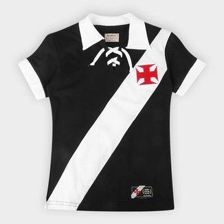 Camiseta Juvenil Vasco da Gama Cordinha Retrô Mania