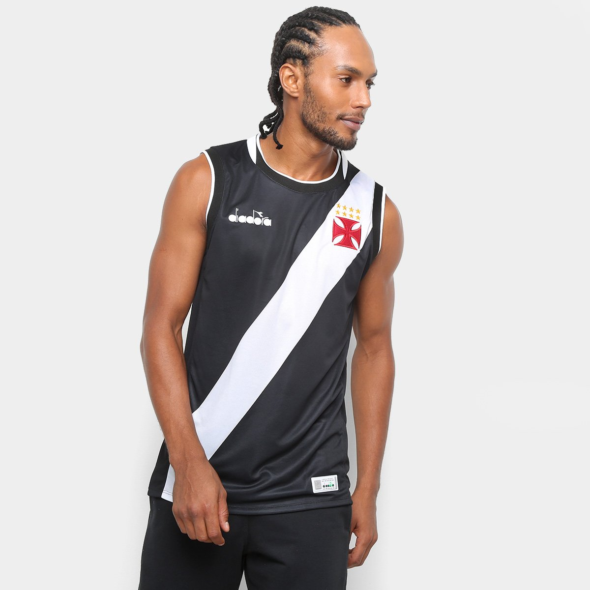 370244bbe4 Camiseta Regata Vasco I Basquete Diadora 2018 Masculina - Compre ...
