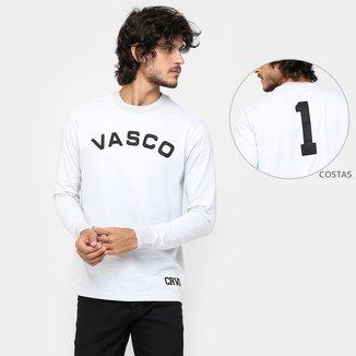 Camiseta Retrô Vasco Réplica Barbosa Manga Longa Masculina