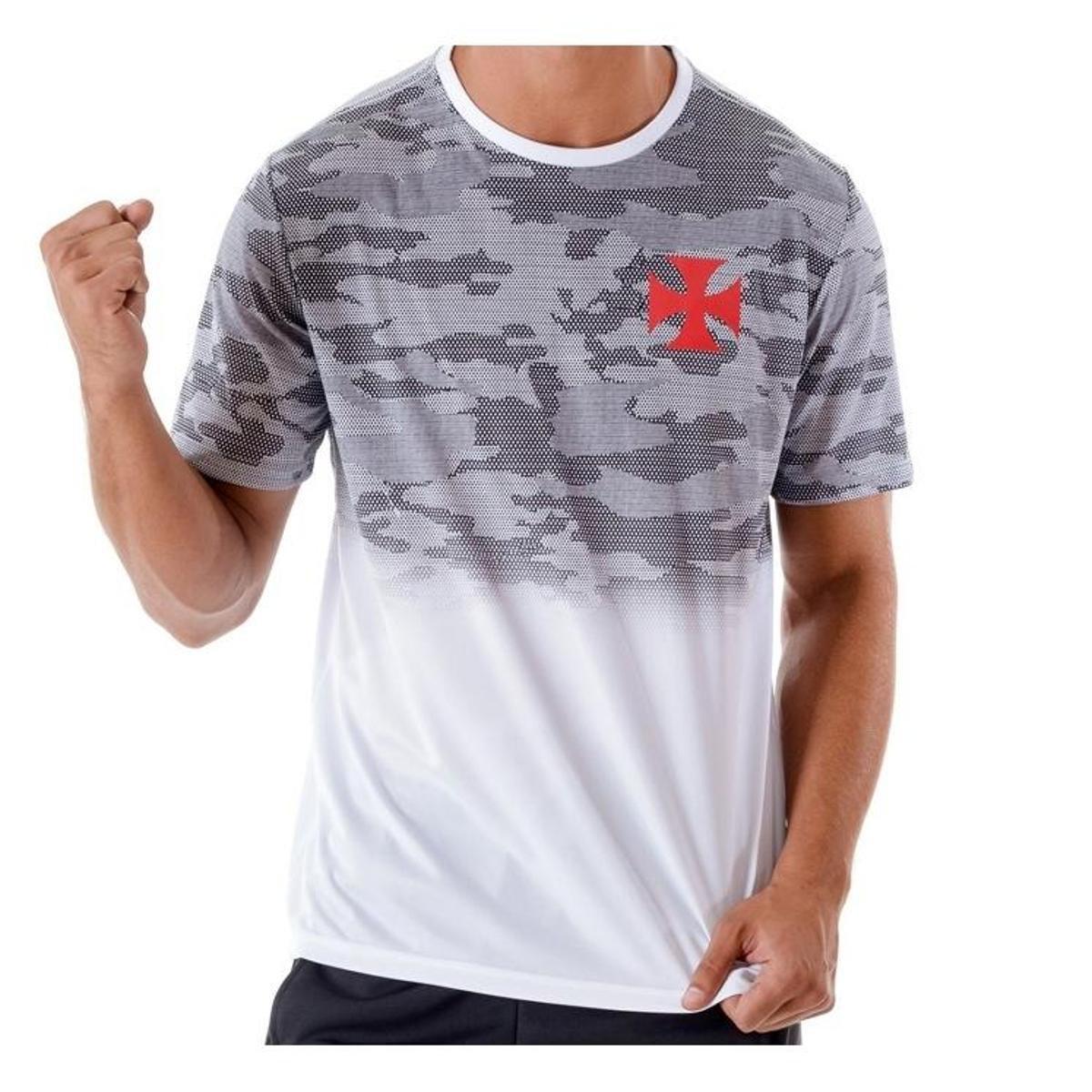 0989eda6c1 Camiseta Vasco Camo Masculina - Branco - Compre Agora