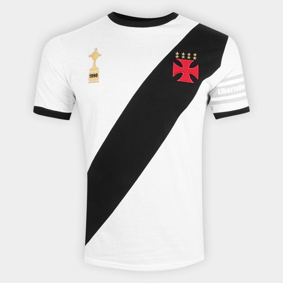 57d461b63f Camiseta Vasco Capitães Libertadores 1998 n° 4 Masculina
