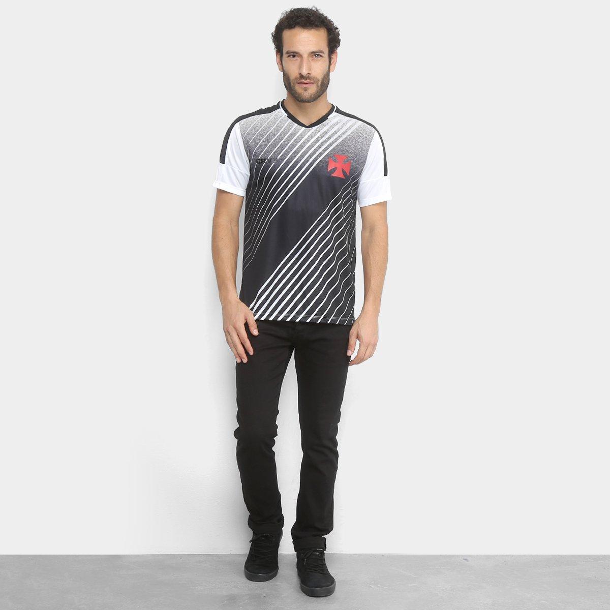 Camiseta Vasco Crush Masculina - Branco e Preto - Compre Agora ... 4bcc705dcbcf3