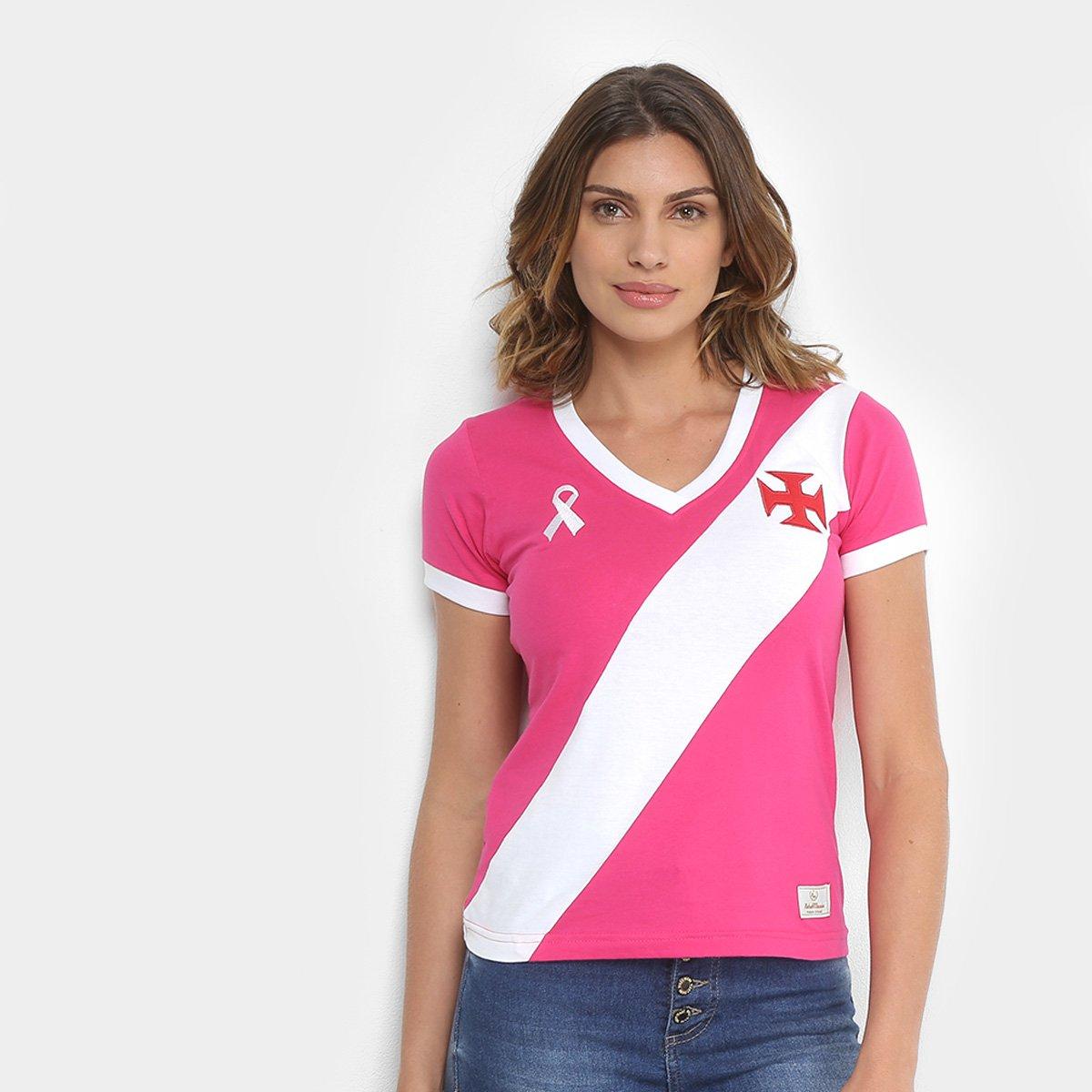 Camiseta Vasco da Gama Outubro Rosa Feminina - Compre Agora  8096101274b