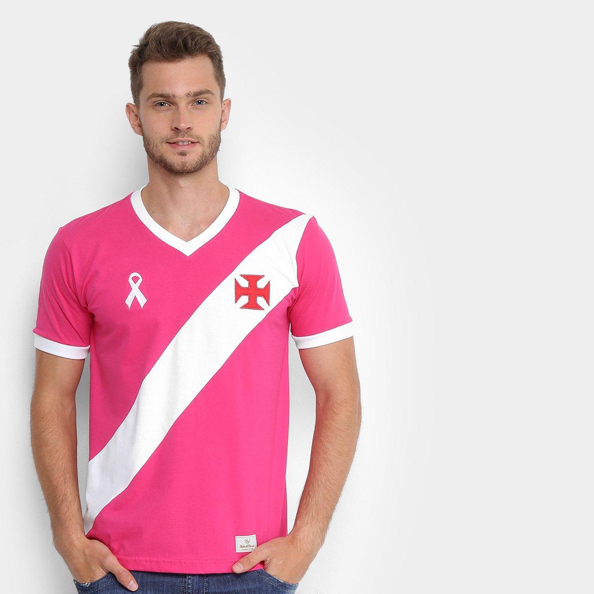 8384994bb5 Camiseta Vasco da Gama Outubro Rosa Masculina - Rosa e Branco ...