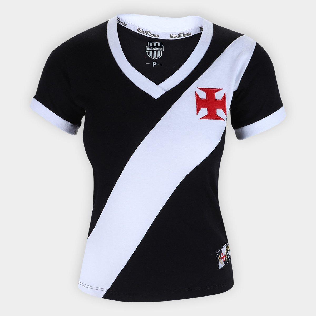 80f6bd48d1634 Camiseta Vasco Da Gama Retro Mania 1948 Feminina - Compre Agora ...