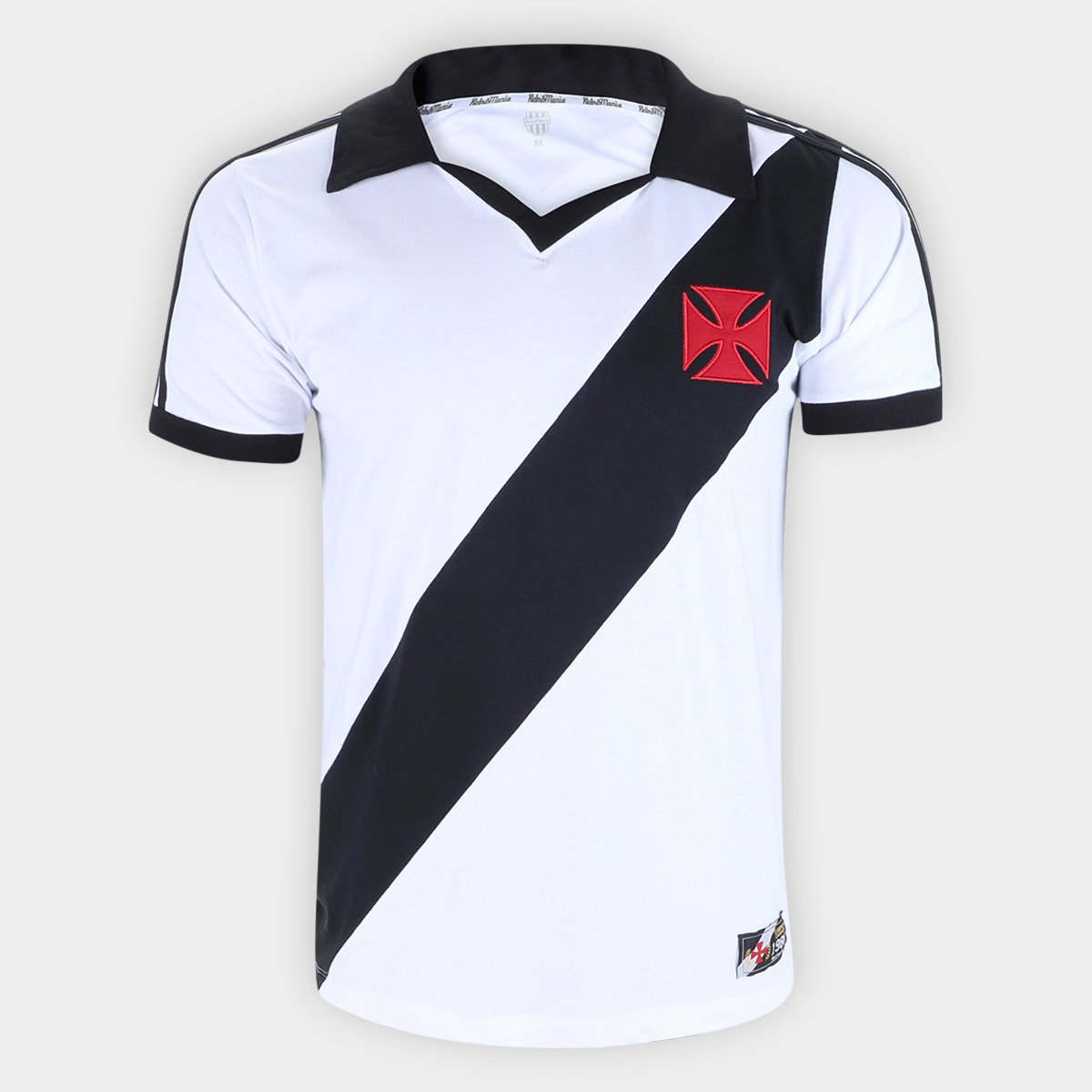 de48736c99 Camiseta Vasco Da Gama Retro Mania 1988 Masculina - Branco e Preto ...