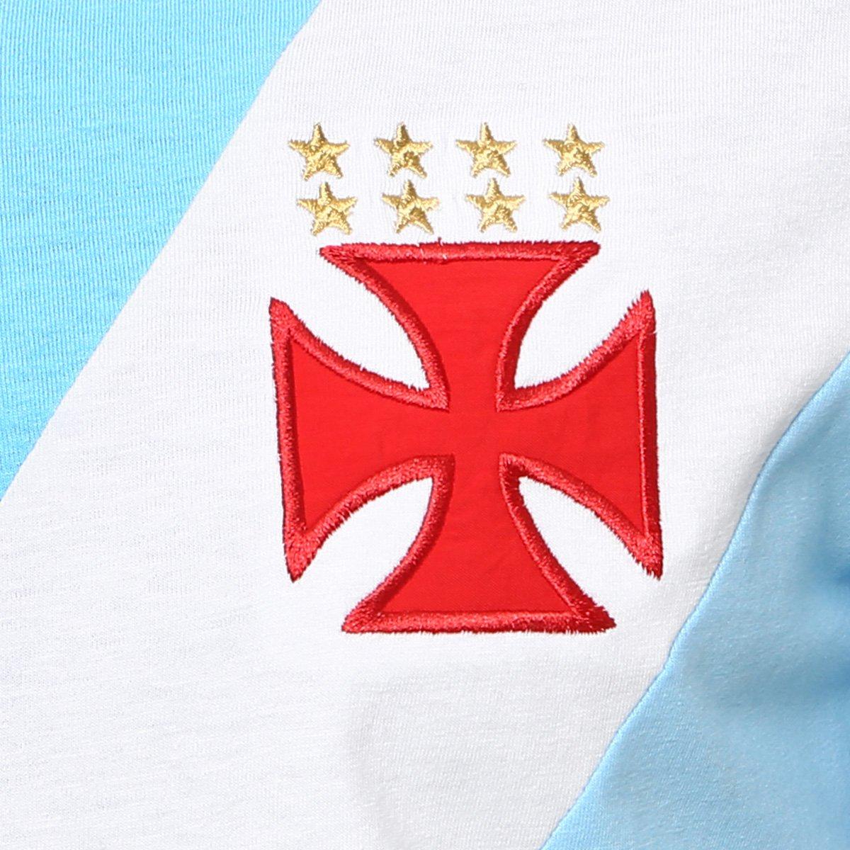 Camiseta Vasco nº 1 Martin Silva Masculina - Azul Claro e Branco ... e153d29778b67