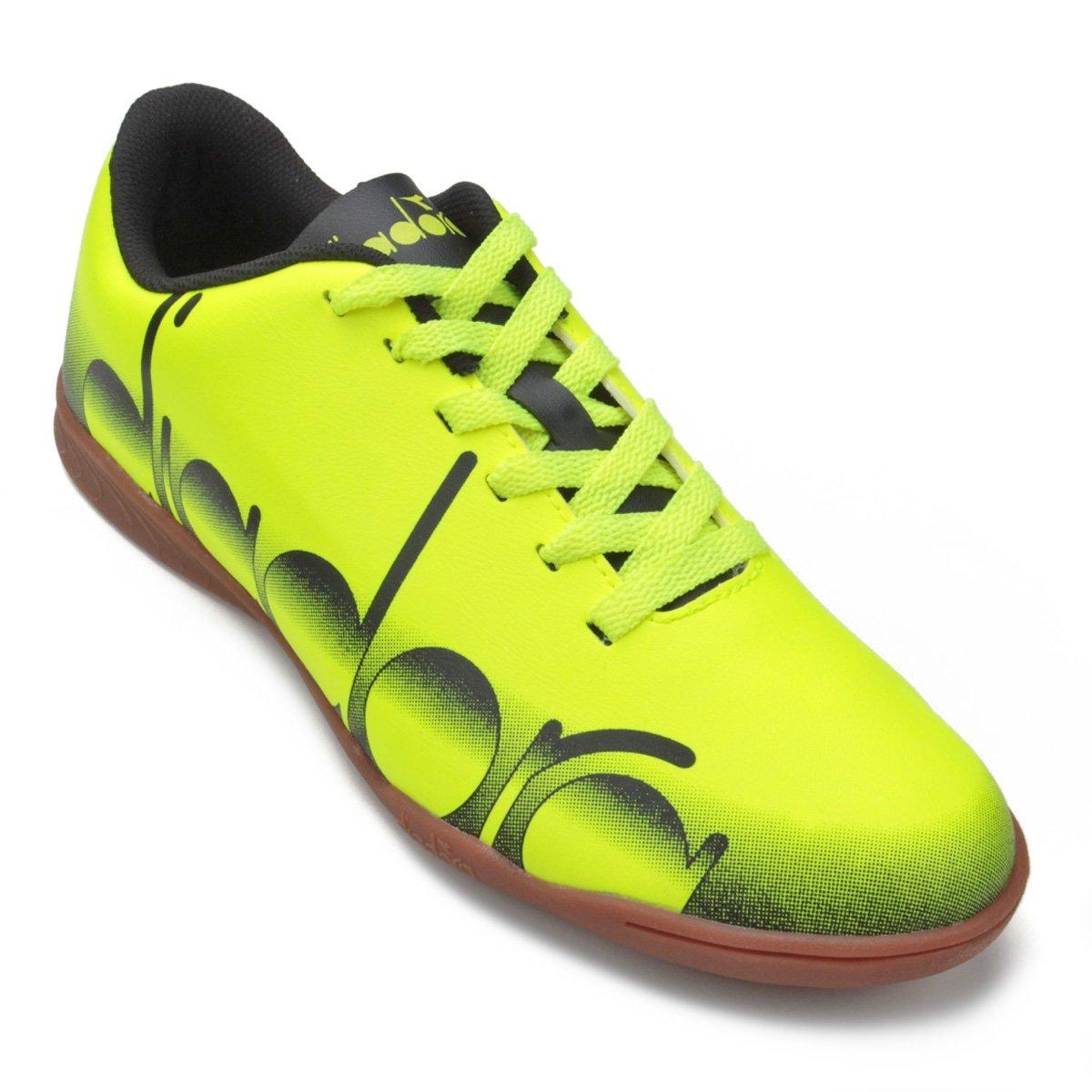 27a271e2b8 Chuteira Futsal Diadora Logo - Verde Limão