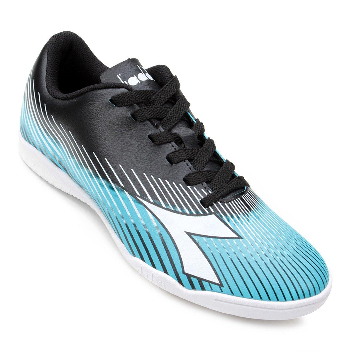 Chuteira Futsal Diadora Rules - Preto e Azul - Compre Agora  db5910b42f0f9