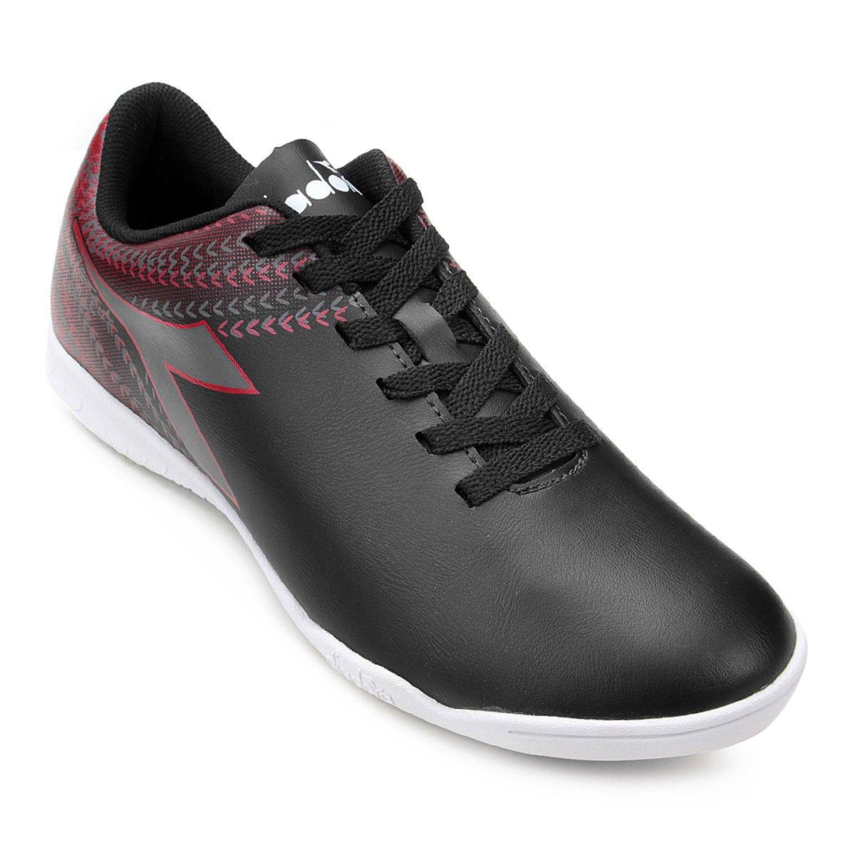 Chuteira Futsal Diadora Track - Preto e Vermelho - Compre Agora ... c102e9a014436