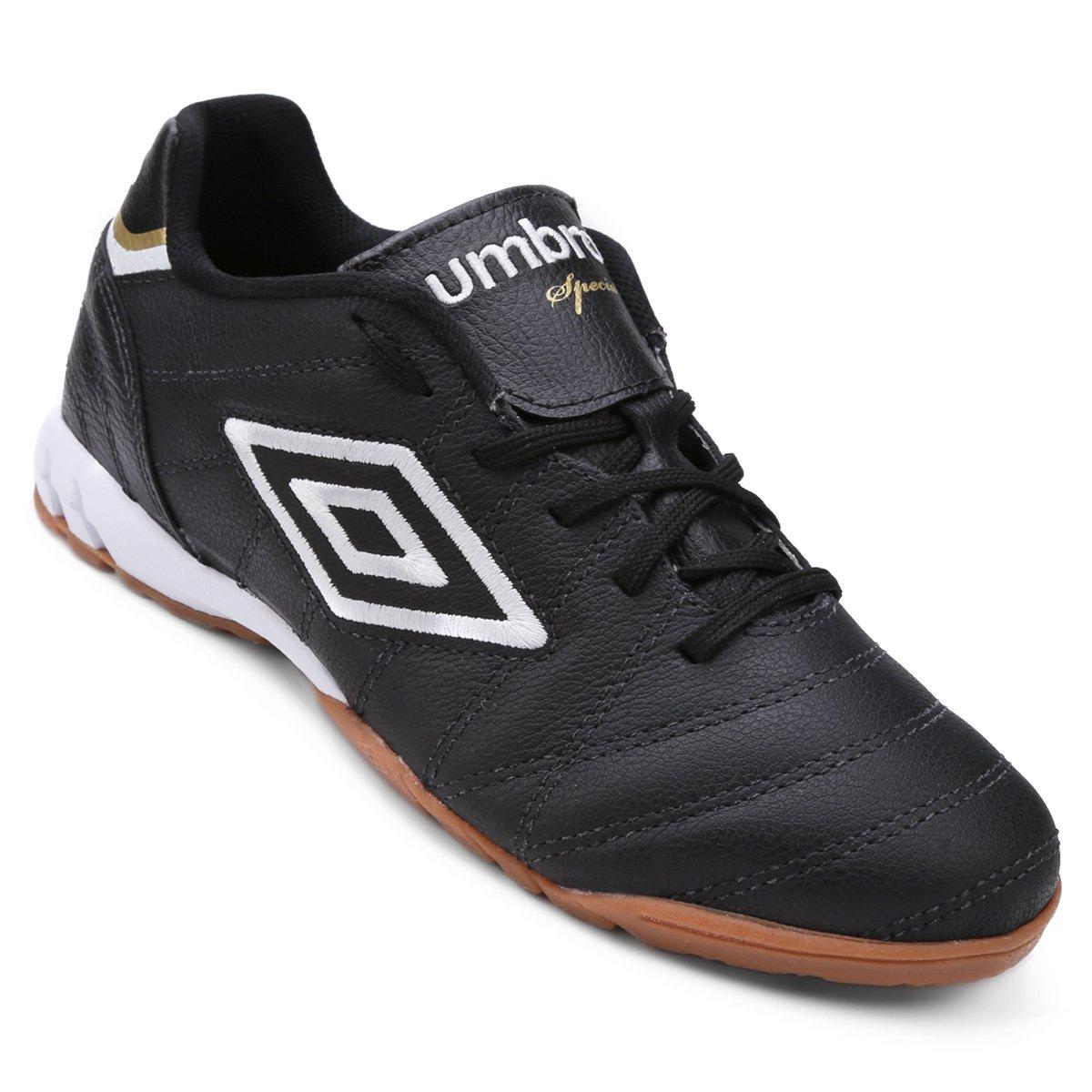 7b887c1fda Chuteira Futsal Umbro Speciali Premier Masculina - Preto e Branco