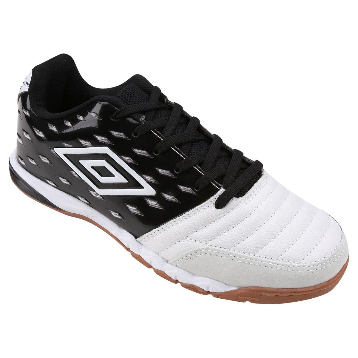 Chuteira Futsal Umbro Stratus Pro - Preto e Branco - Compre Agora ... b619ca828e541