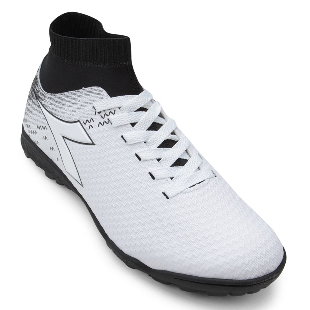 a76465097e Chuteira Society Diadora Slip On - Branco e Preto | Shop Vasco