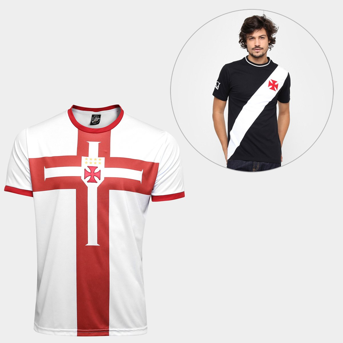 bddd527f82 Kit Camisa Vasco Templária Edição Limitada + Camiseta Vasco Recorte ...