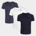 Kit Camiseta Vasco Retrô c/ 3 Peças Masculina