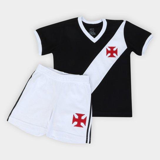 Kit Infantil Vasco da Gama 1948 - Preto+Branco