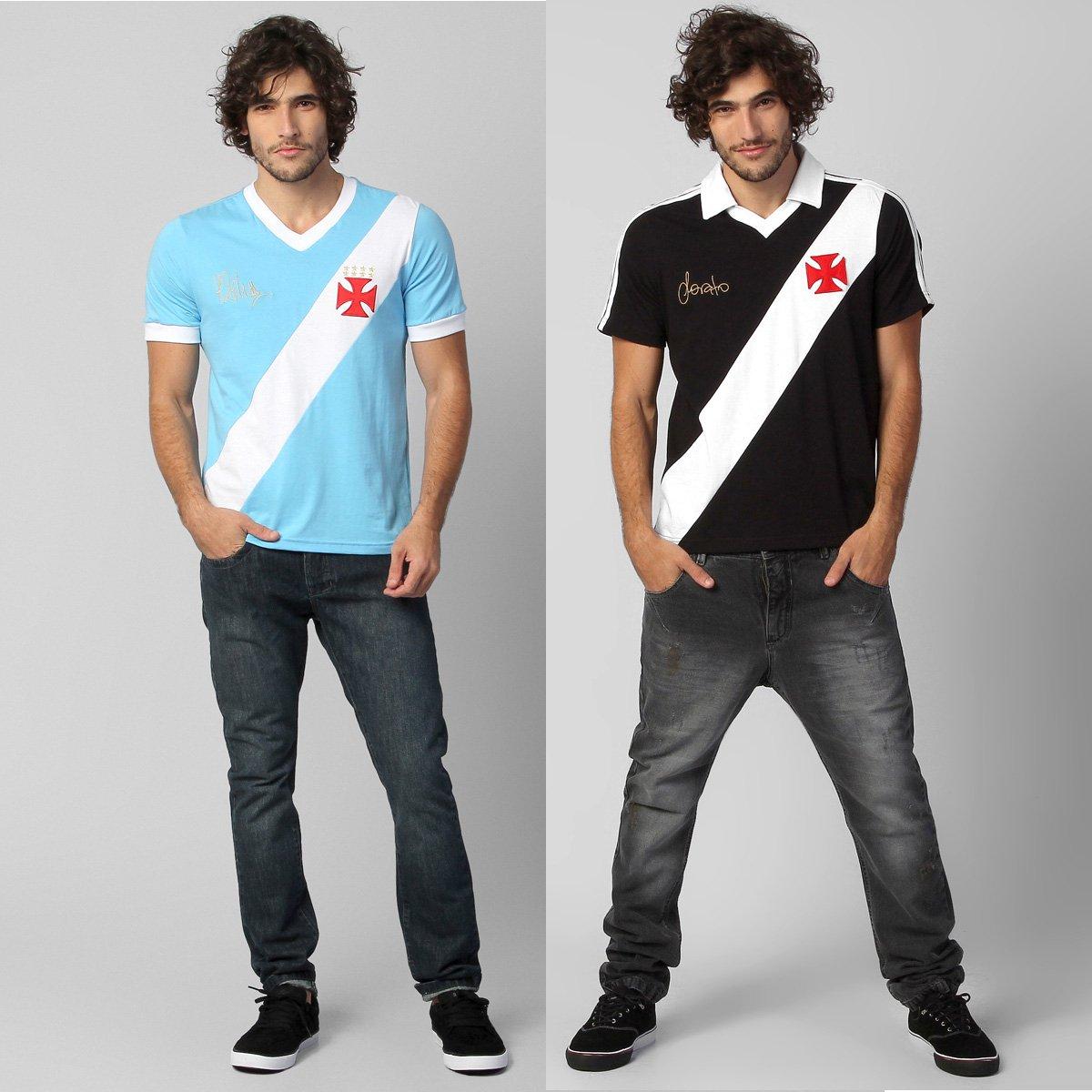 6e2f8ce7b6 Kit Vasco - Camisa Retrô Sorato + Camiseta Martin Silva